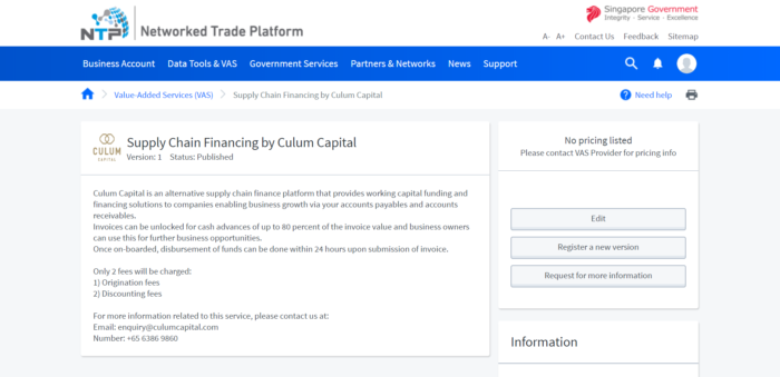 Singapore's Most Reliable Supply Chain Finance | Culum Capital